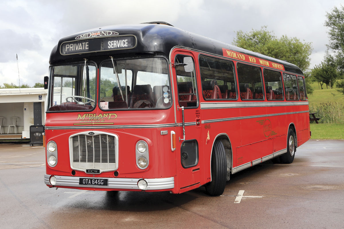 The Midland Red Coaches liveried Bristol RELH now with Hogan Brothers in Redditch