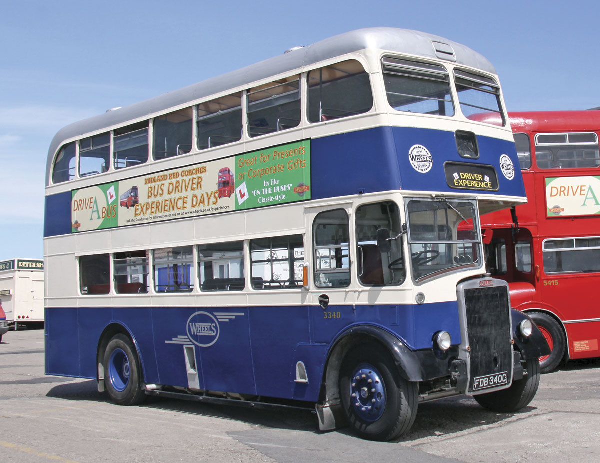 The Stratford Blue liveried Leyland PD2