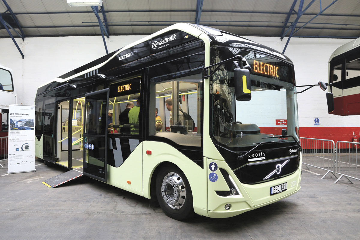 The Volvo electric concept bus