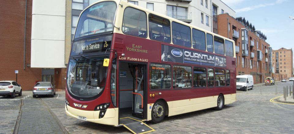 The Wrightbus Gemini EYMS has had the Quantum system installed on