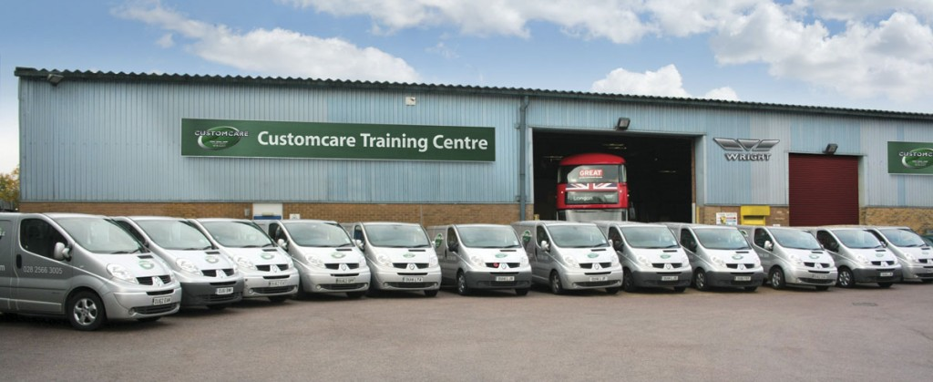 The new Wrightbus Customcare repair, refurbishment and training centre in Orpington