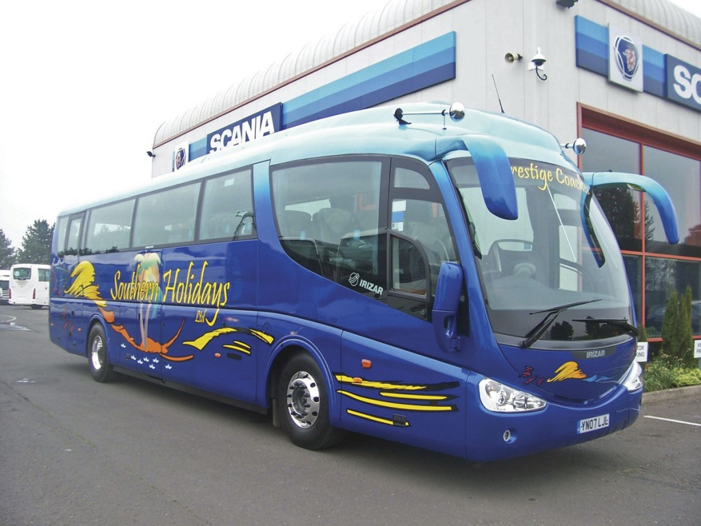 The paintwork on this Irizar was courtesy of S&G Coachworks