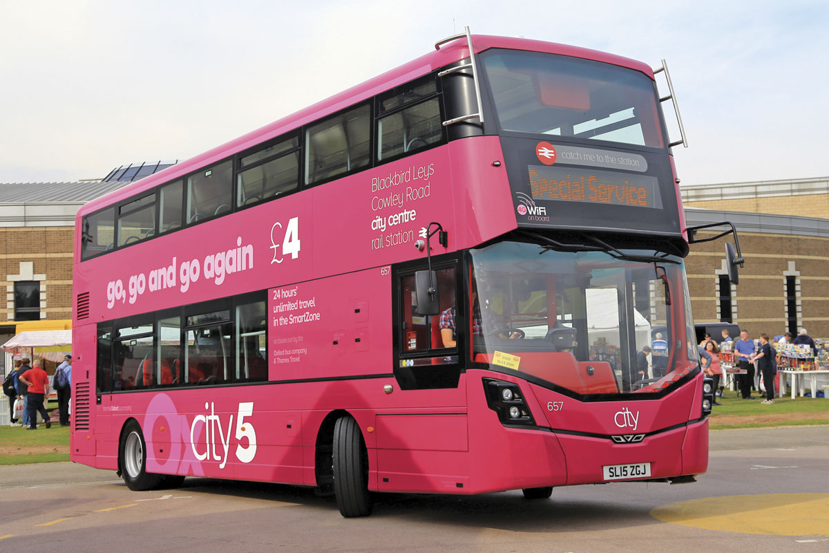 The styling of the lowheight Wrightbus Streetdeck for Oxford Bus Company attracted much attention