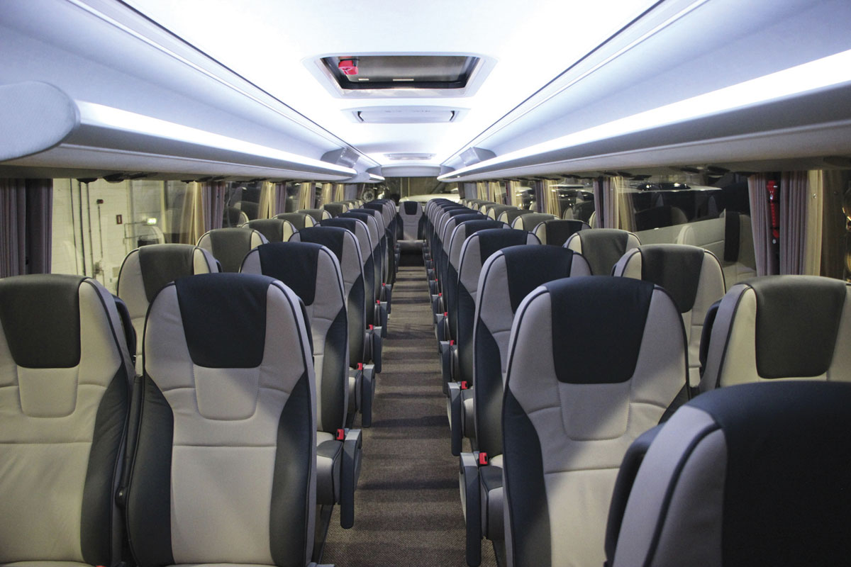 The upper deck saloon from the front