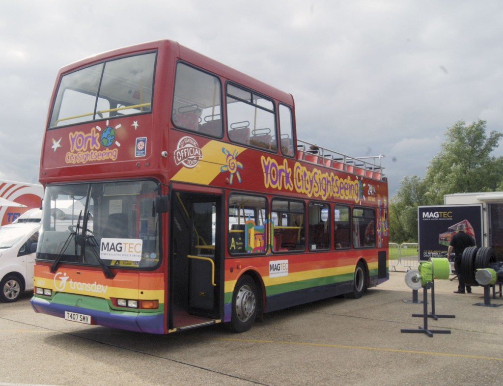 Transdev's 1999 Dennis Trident repowered by Magtec to run on electricity