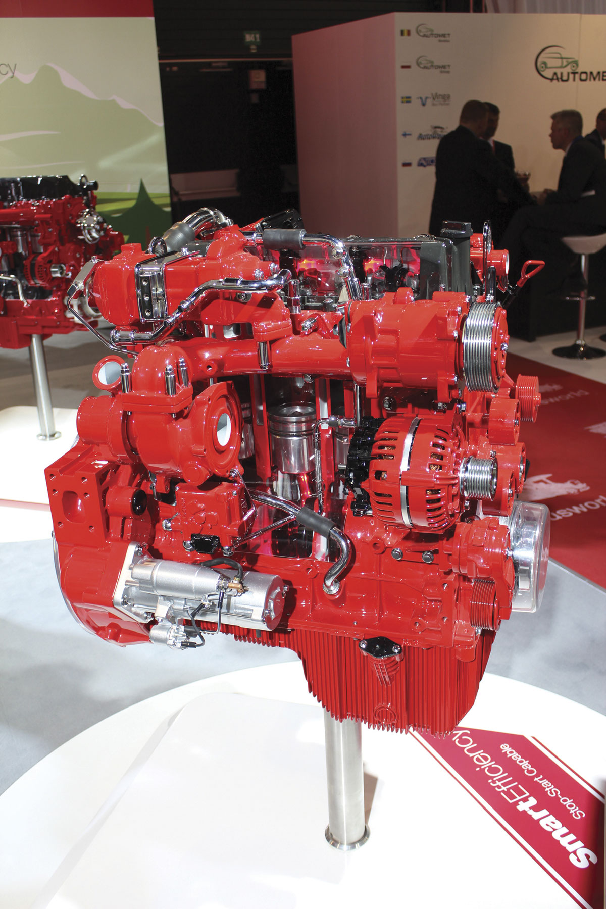 An ISB4.5 Smart Efficiency engine featuring the new Stop-Start technology