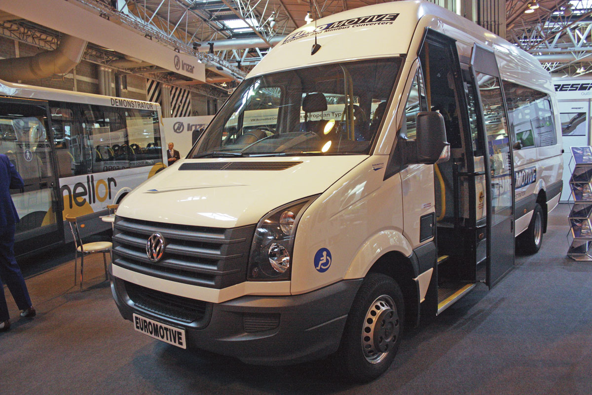 Euromotive of Kent built this 16 seat accessible VW Crafter.