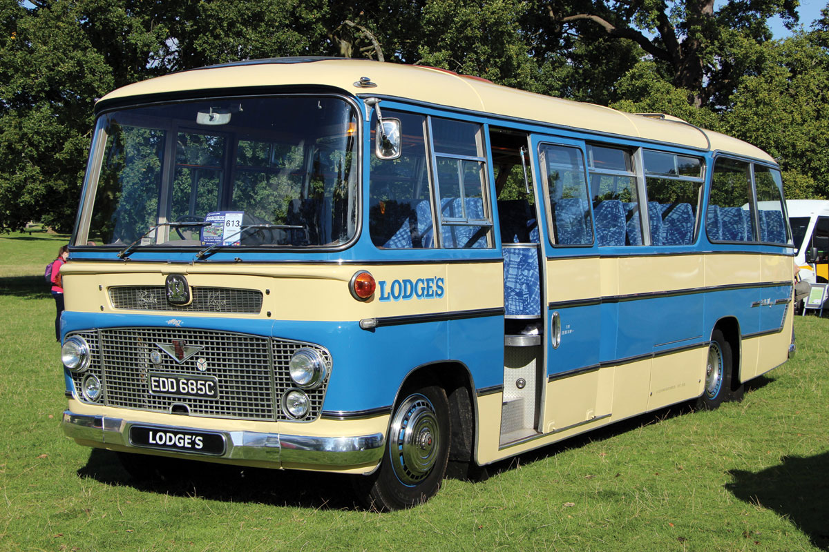 The latest addition to Lodge's working heritage fleet is this 1965 Bedford SB Duple Bella Vega.