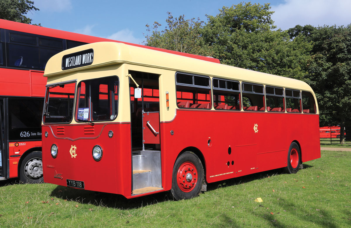 Recently restored is this Dennis Lancet with Harrington bodywork in the colours of H&C, South Petherton.