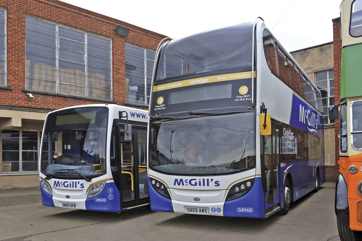McGills supported the October event with a newly delivered ADL Enviro 200 and a very smart six year old Enviro 400.