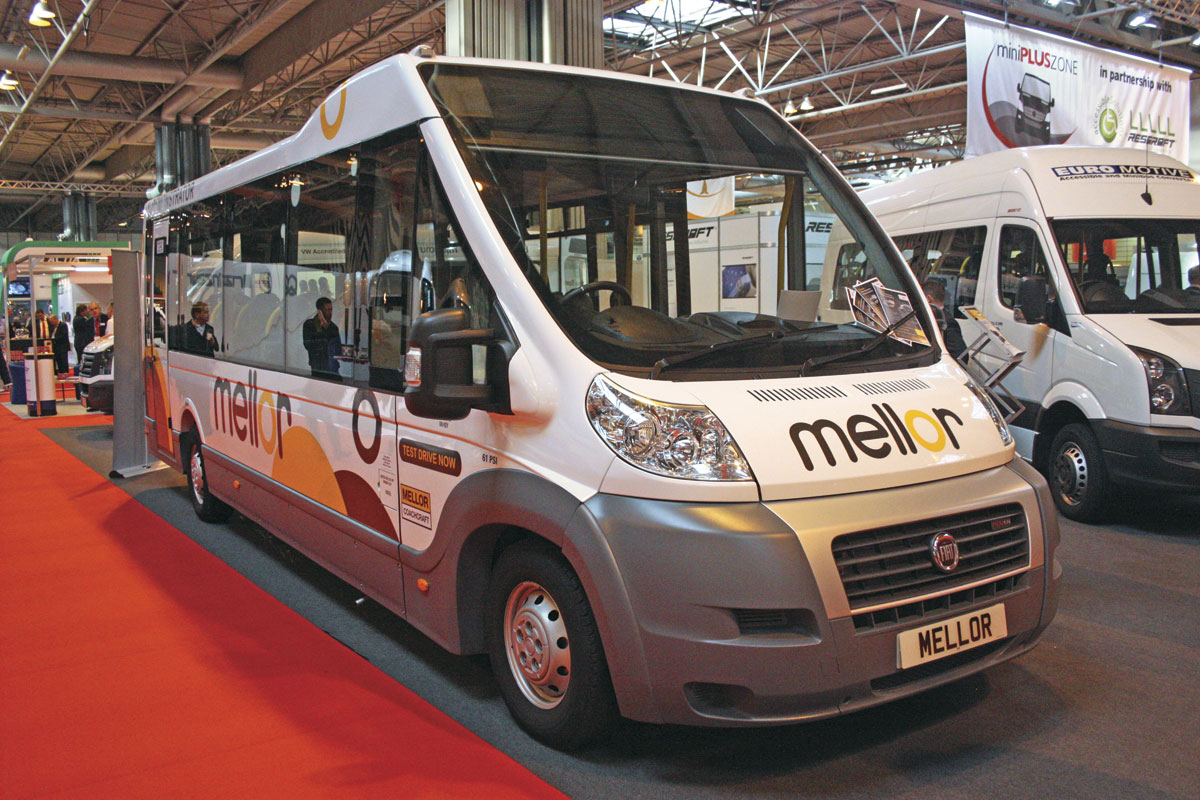 Mellor Orion flat floored directly wheelchair accessible service bus. It can carry up to 22 passengers.