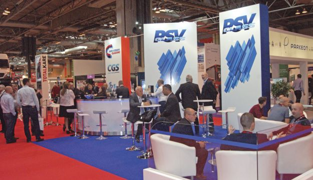 PSV Glass's stand during the recent Coach & Bus Live exhibition.