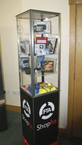 Products on display on FTA's stand.