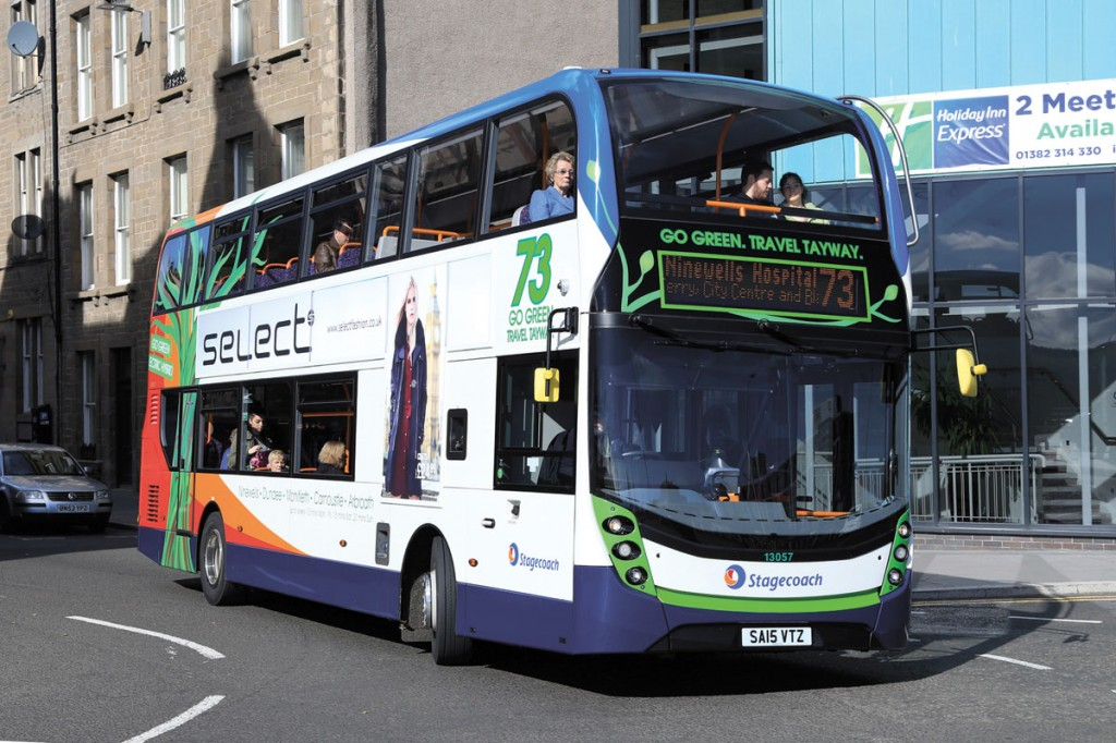 Adrian has long been a champion of greener alternative propulsion systems. This is one of 18 B5LH hybrids Volvo supplied to Stagecoach in 2014 with ADL Enviro 400 MMC bodywork. There are now 778 Volvo hybrids in service in the UK well over half of them in London.