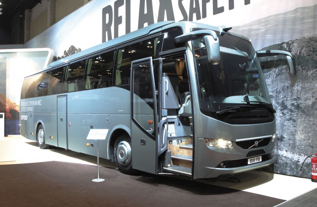The Volvo 9700 with Volvo Dynamic Steering (VDS).