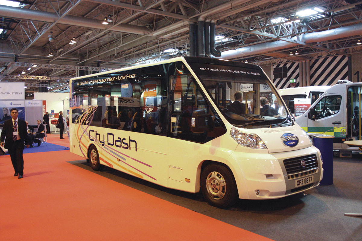 The new City Dash from Nu-Track. It is a flat floored directly wheelchair accessible 16 seat minibus.