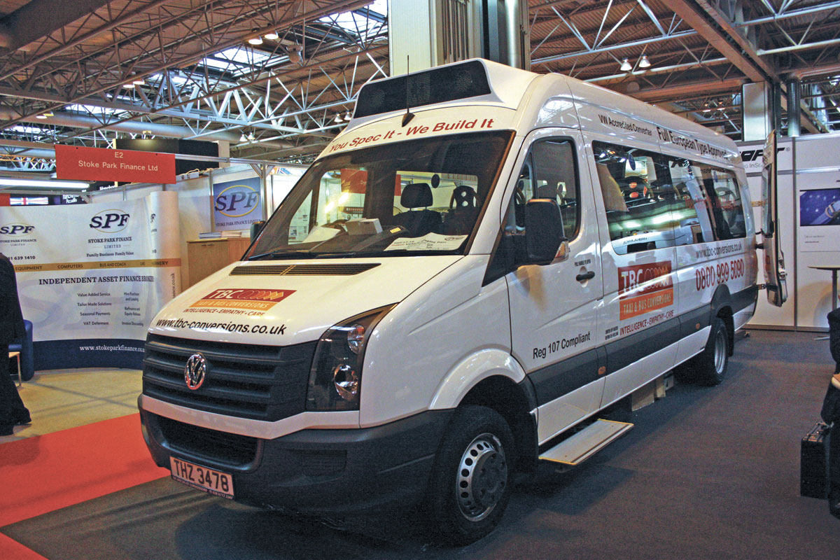 This 16 seat accessible VW Crafter CR50 was built by TBC Conversions of Northern Ireland.