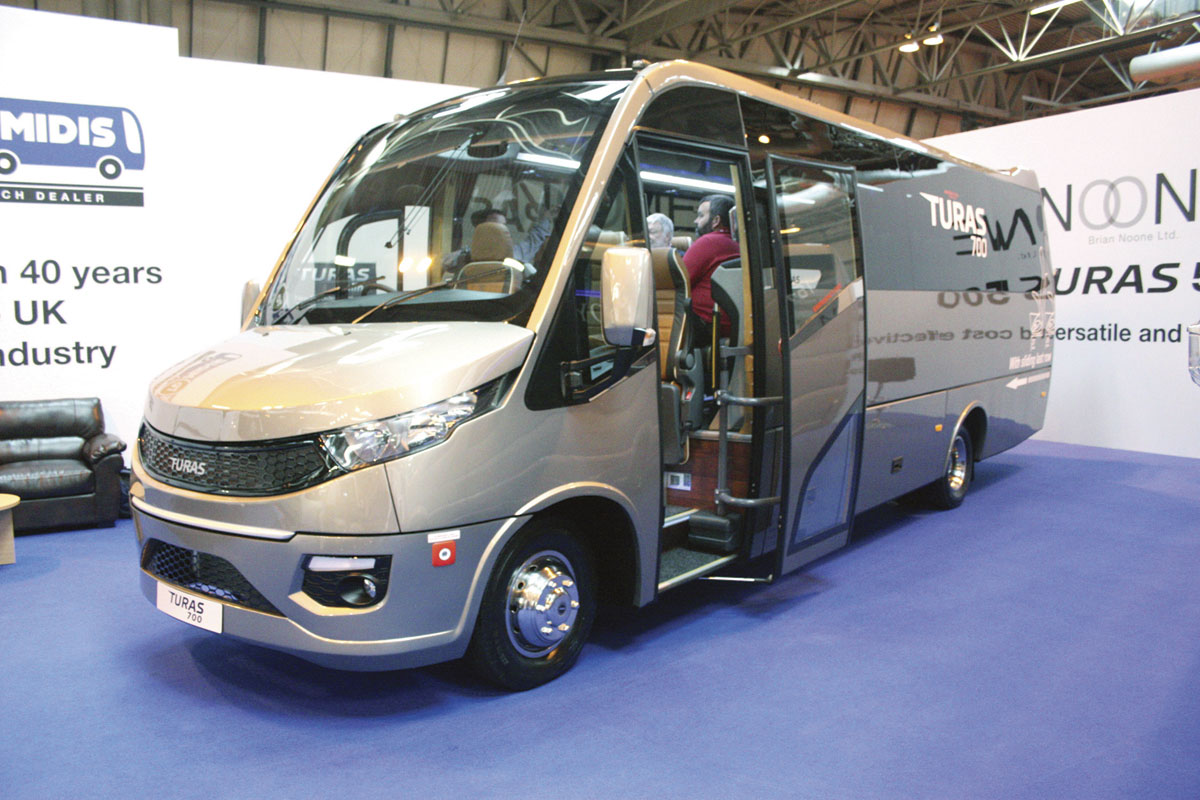 Turkish built Noone Turas 700 29 seater is built on the 7.5 tonne Iveco New Daily 70C17 chassis.