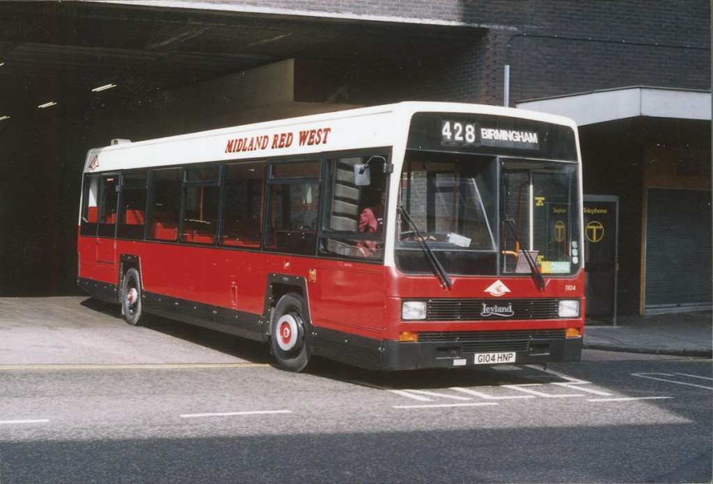The Leyland Lynx. Adrian is very proud of it. This is one of a batch supplied to Midland Red West seen leaving Birmingham's old Bull Ring Bus Station.