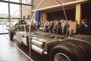 Adrian was the Project Leader that brought the TX platform, the B12M and B12B, to fruition. Here, the chassis is unveiled to UK dealers and the press at Warwick.