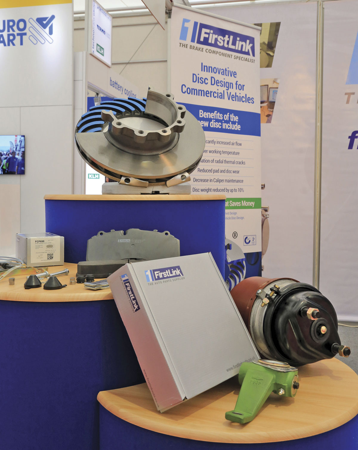 Brake discs and other products from Firstlink Auto.