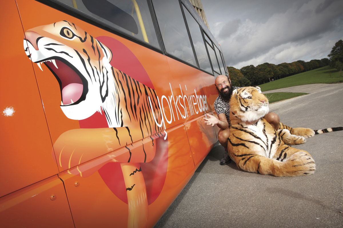 Ray loves all things feline and so this Yorkshire Tiger concept, now a subsidiary of Arriva, was one he particularly embraced.