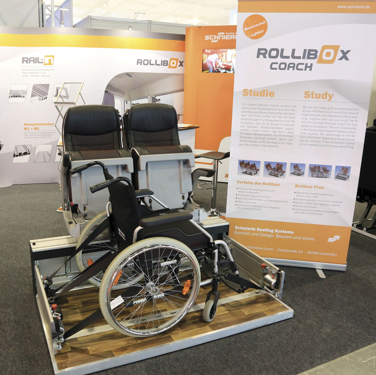 Rollibox concept for coach from Schnierle Seating Systems.