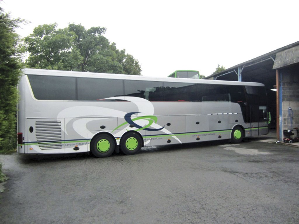 Shaw's Van Hool Altano TD 921 before going into Britcom.