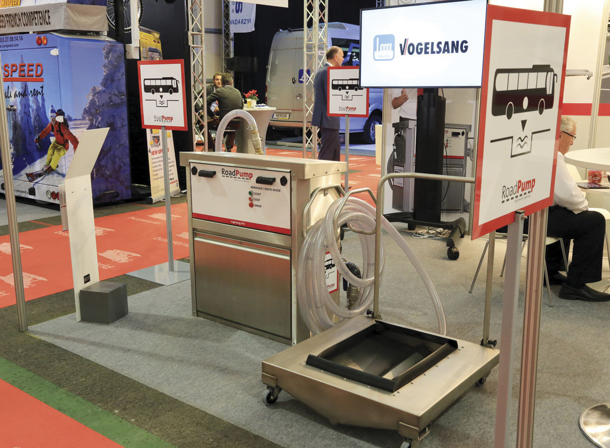 The RoadPump coach toilet drop system from Vogelsang.