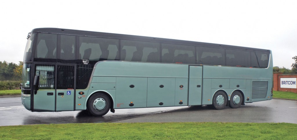 The Van Hool after Britcom repainted it.