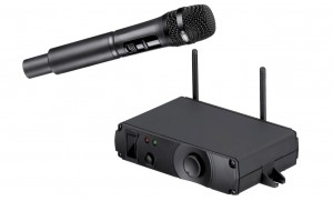 The microphone from Autosound's Bosch WirelessMicrophone System.