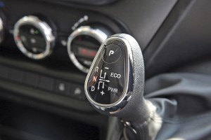 The new gear selector for the Hi-Matic offering ECO and PWR settings as well as the option to select gears manually