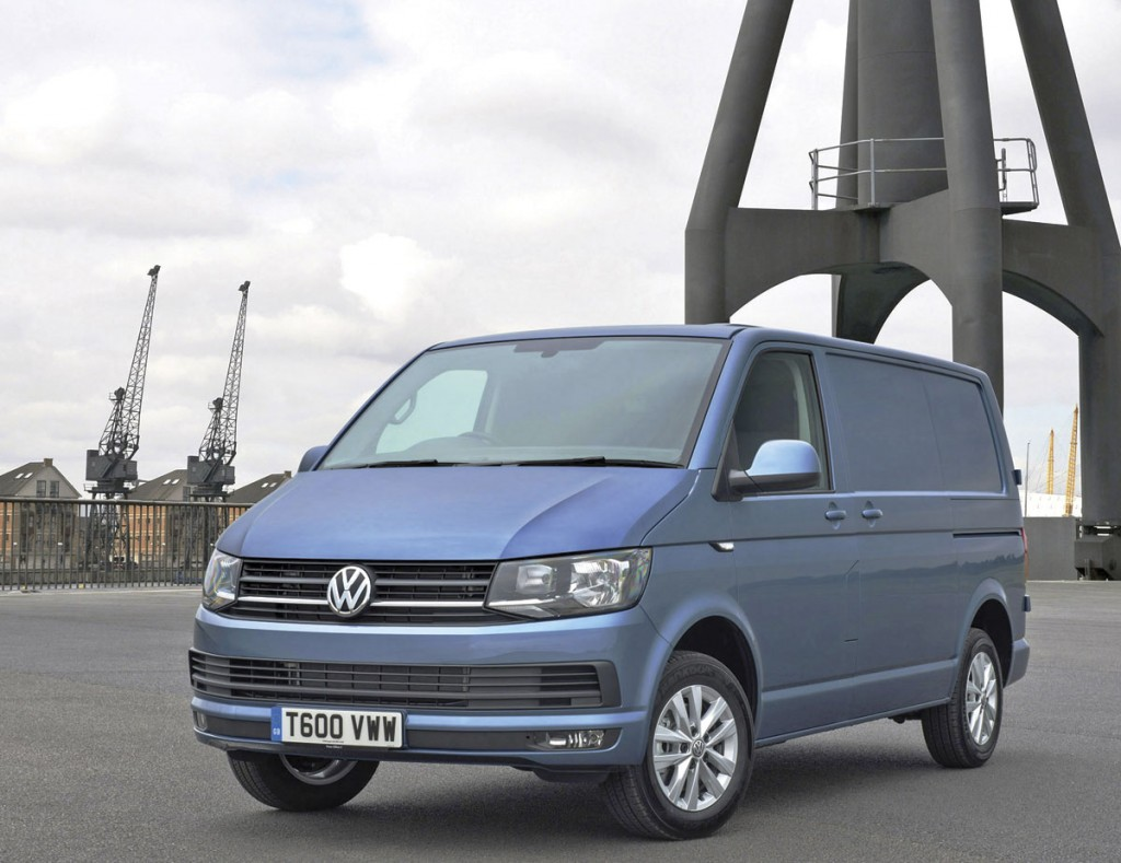 The stylish new VW T6 Transporter van.