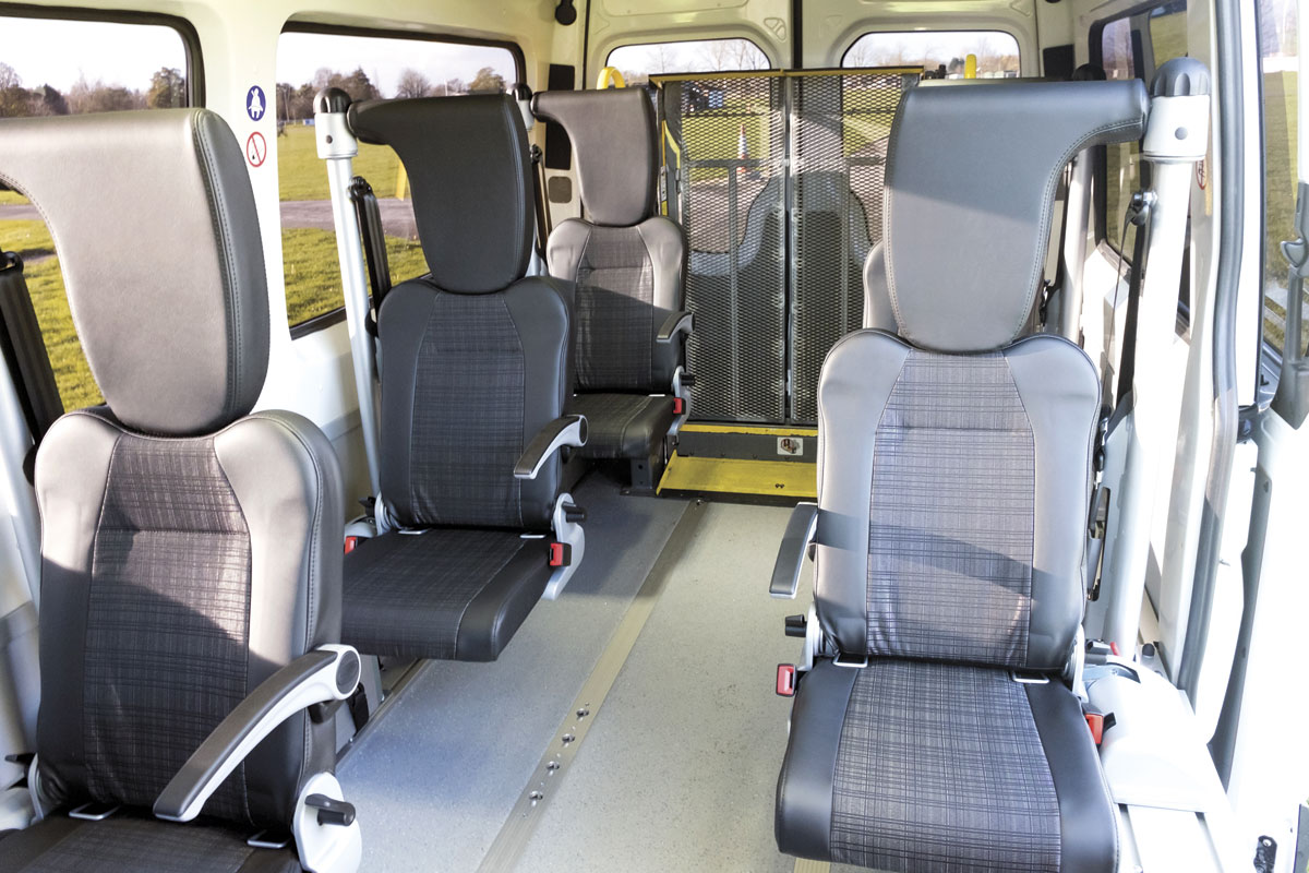 The system with its seats in place.