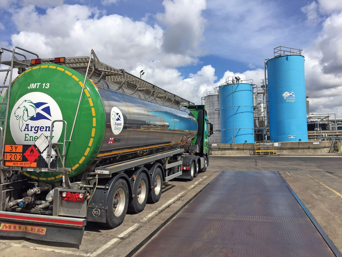 Argent has a fleet of 26 tankers delivering biofuel.