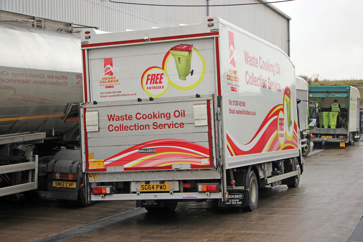 Delivering waste cooking oil to the Motherwell plant.