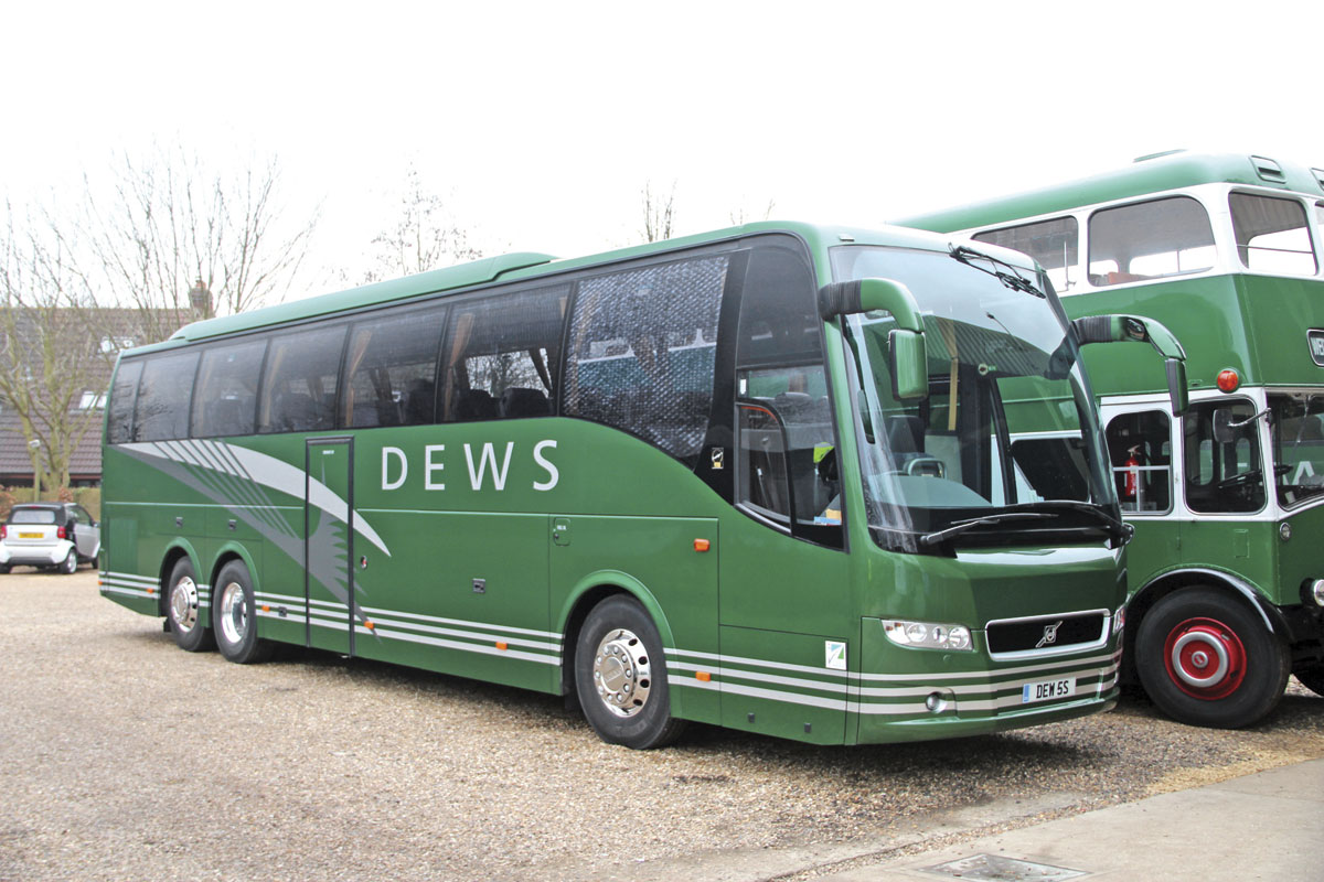 Dews most recent new non-Daimler acquisition was this tri-axle Volvo 9700 in 2011.