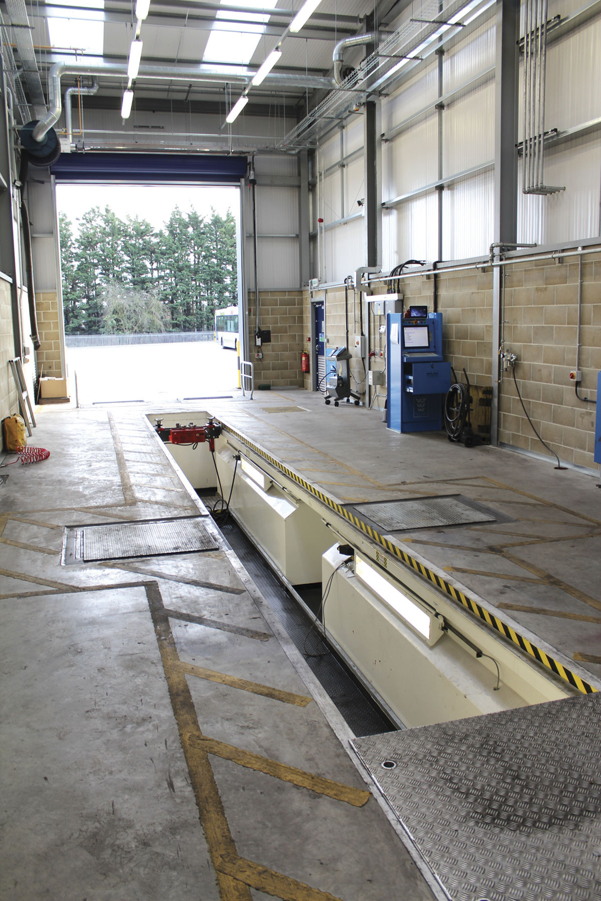 Fully equipped to DVSA standards, it is hoped the new MOT bay will receive authorisation for use as an ATF facility.