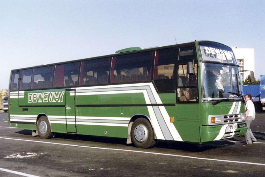 One of two Plaxton Paramount 3500 bodied Scanias bought new in the 1980s.