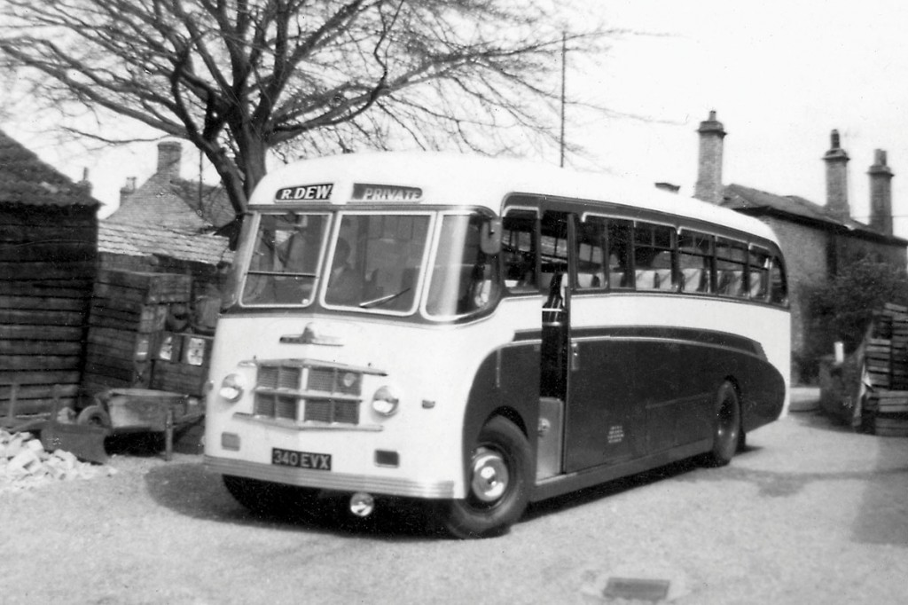 Seen in the original yard with vegetable boxes in the background is a Thurgood bodied Bedford SB.