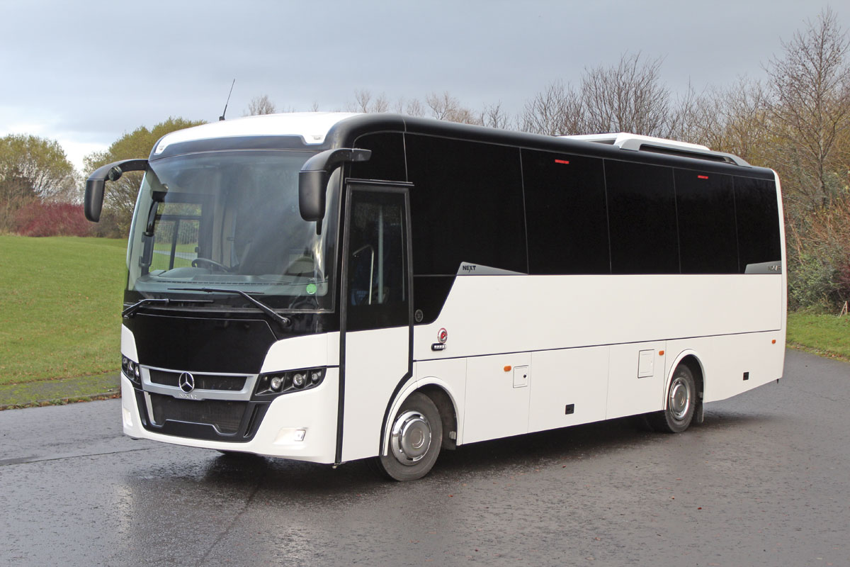 The 9.39m Indcar Next with centre continental door on a 12-tonne Mercedes-Benz Atego chassis-2