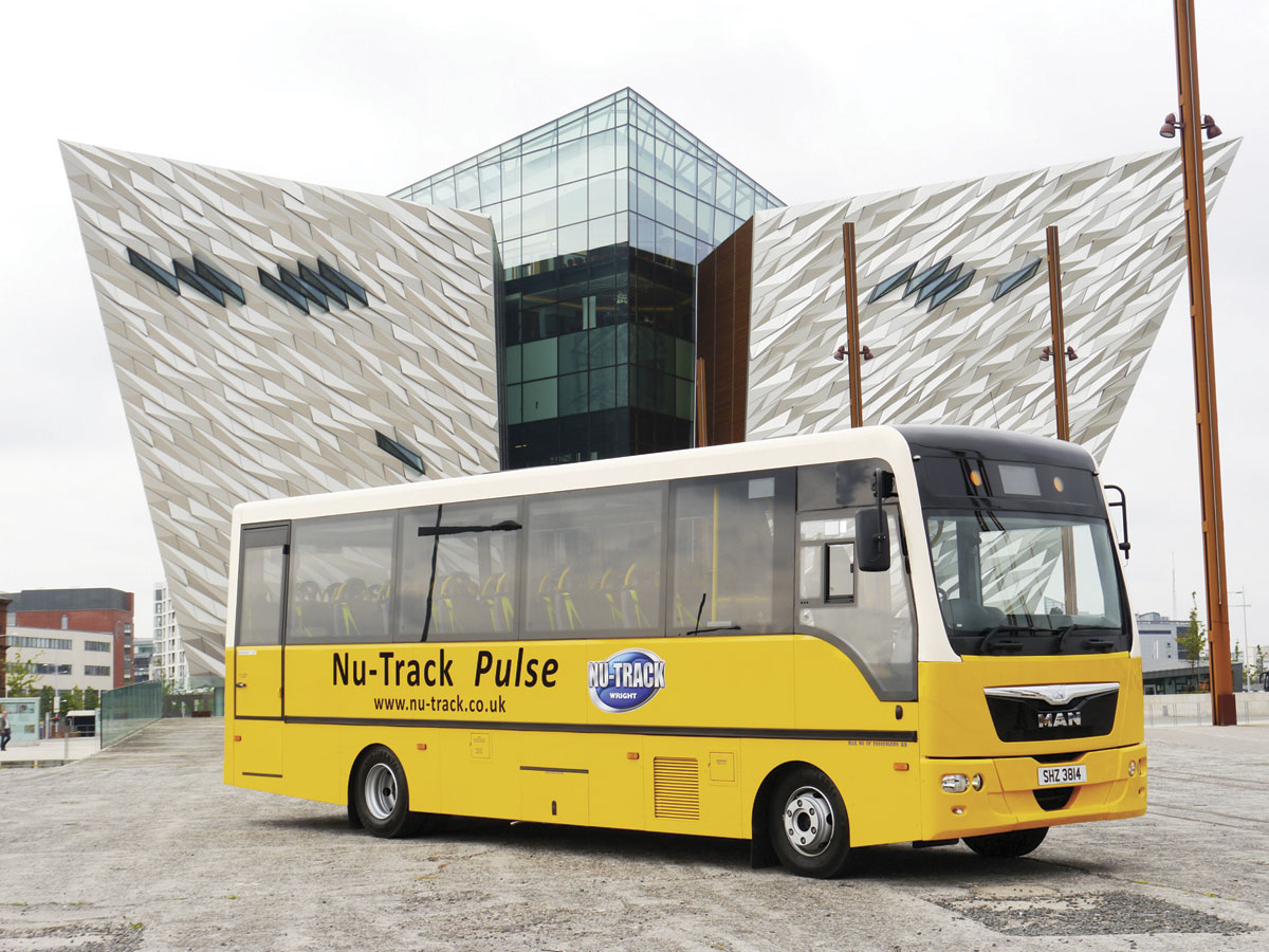 The Nu-Trak Pulse was a new collaboration between Wrightbus and MAN in 2014