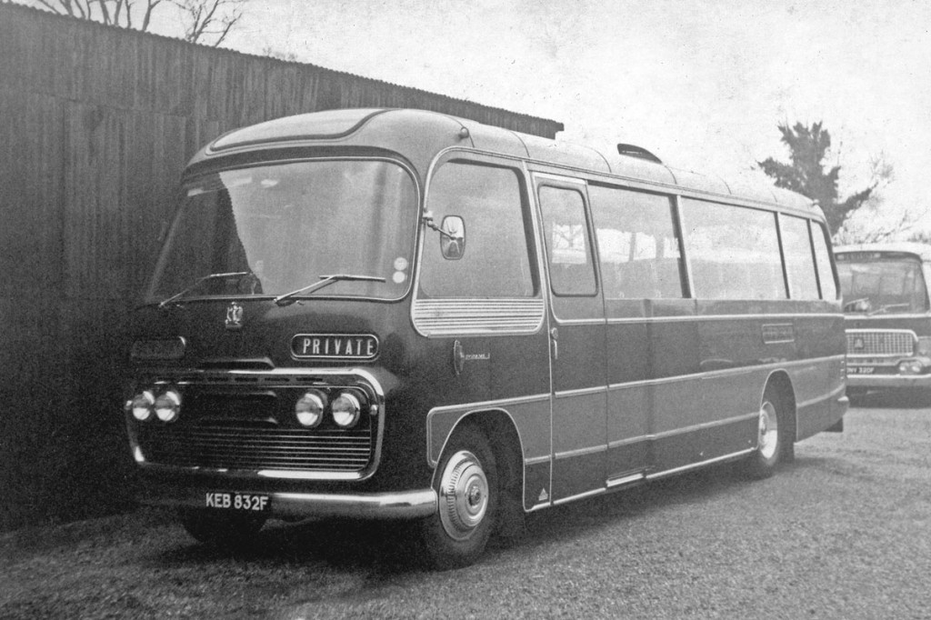 The Plaxton Panorama 1 bodied Bedford SB purchased new in 1967.