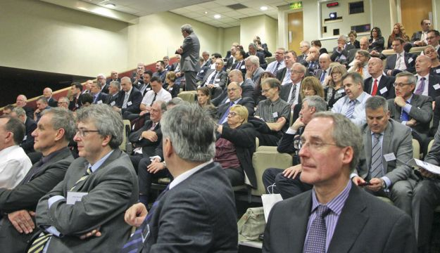 The conference was well attended throughout. This was in the afternoon session.