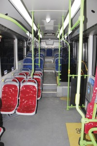 The interior of the Vectio C features red priority seats in the low floor area and blue ones in the stepped section towards the rear as well as the tip-ups - image 2