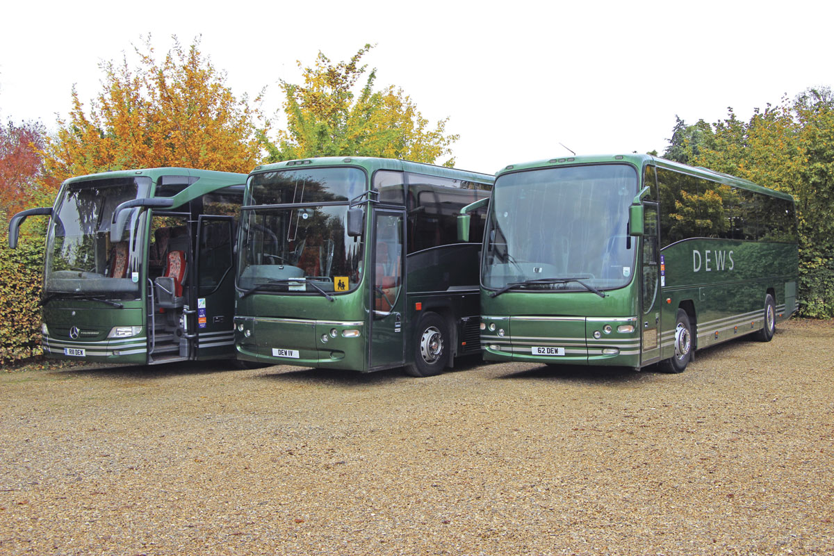 Three members of the current fleet are this Tourismo and two Plaxton bodied Volvos.
