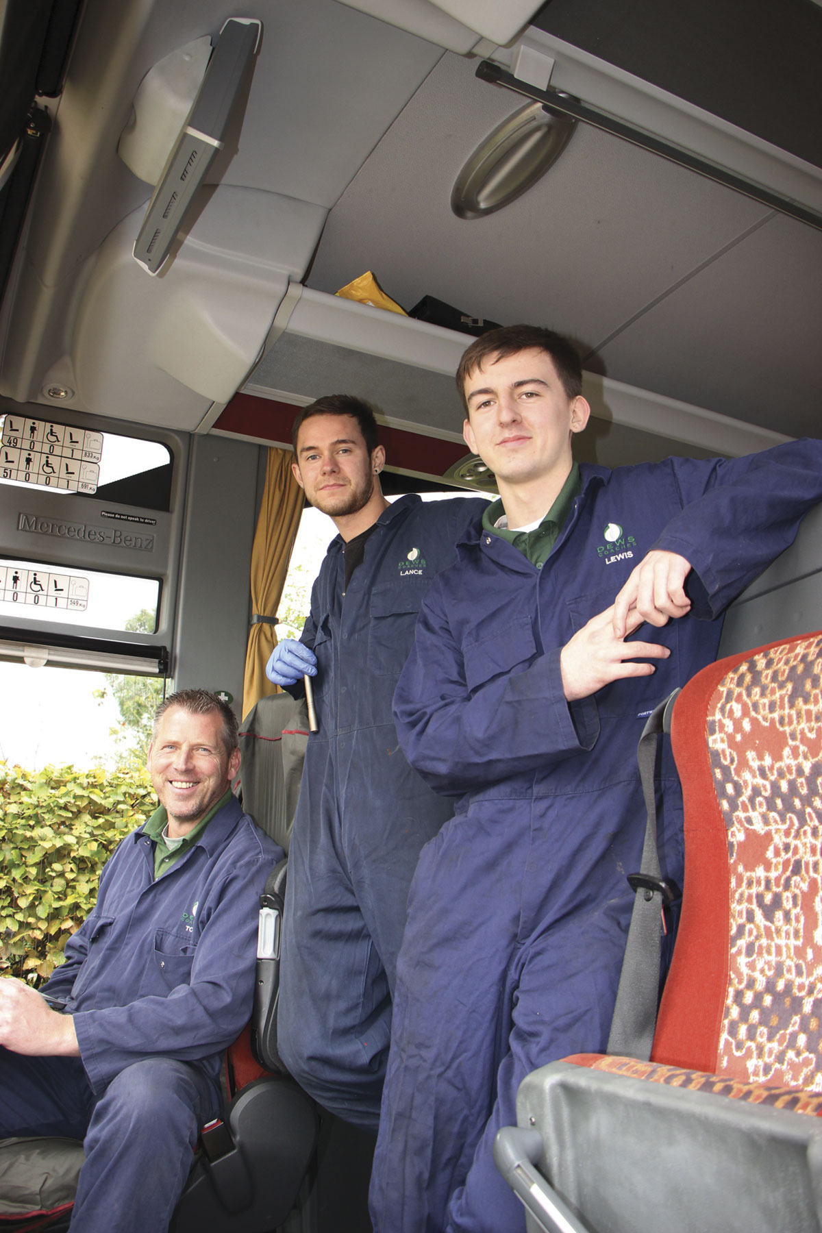 Tom Williams, Lance Keatley and Lewis look after the maintenance of the fleet.