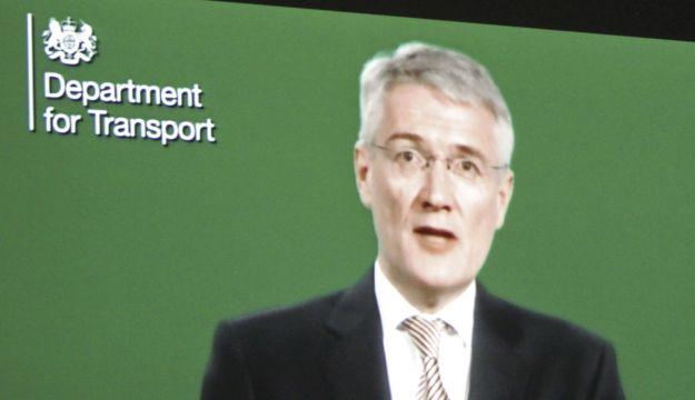 Transport Minister, Andrew Jones, wasn't actually there.
