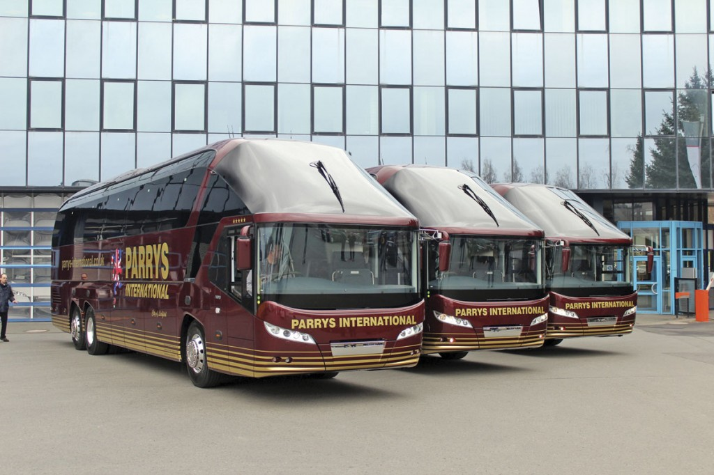 Trio- Parry's International took delivery of the last Starliner in the UK. These three were delivered in April 2014