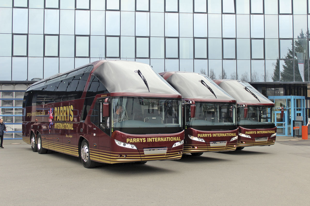 Trio- Parry's International took delivery of the last Starliner in the UK.